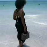 On the beautiful Florida beach.