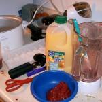 Frozen fruit mash