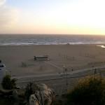 Santa Monica beach on high