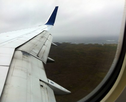 A view from my airplane window as we descended into Keflavik