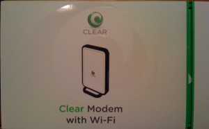 The Clear modem box.