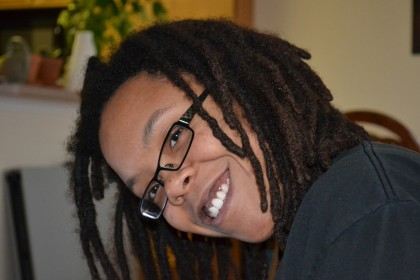 A portrait of me from spring 2011, with long locs.