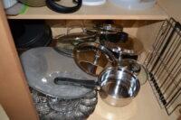 Many of our lids, sans pots.