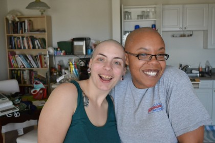 Me and Deana, after shaving our heads.