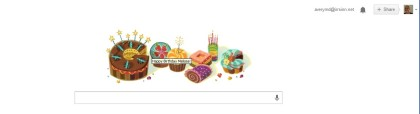 Google changed its homepage logo for me!